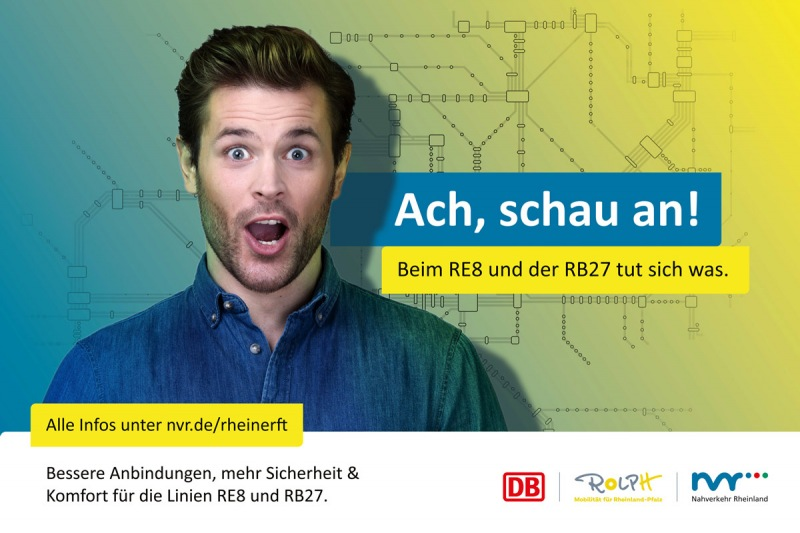 Flyer Werbekampagne - Deutsche Bahn / Nahverkehr Rheinland