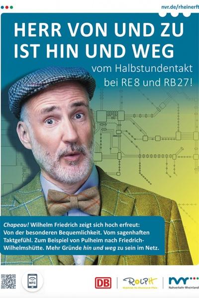 Poster Werbekampagne - Deutsche Bahn / Nahverkehr Rheinland
