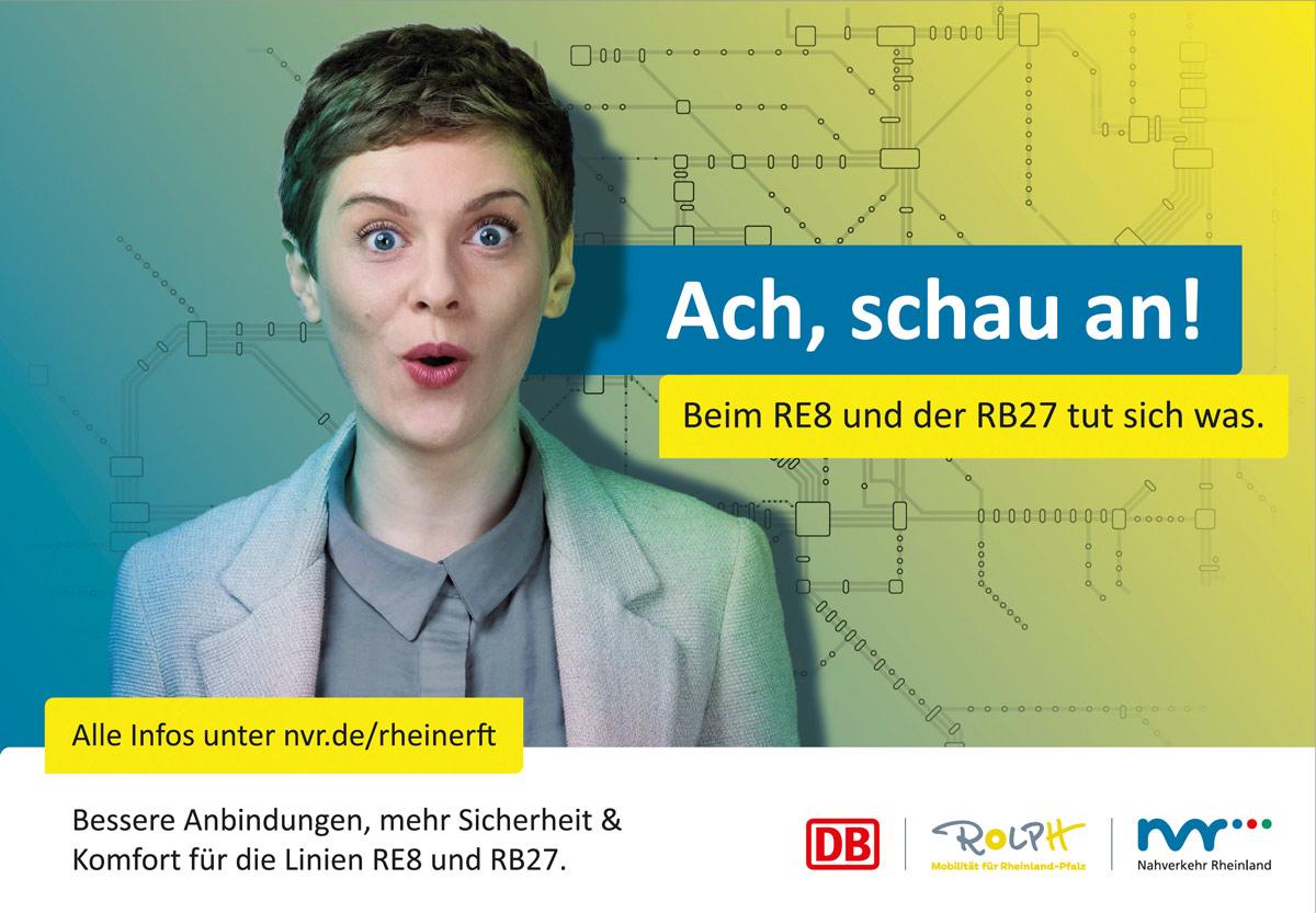 Werbekampagne für den Nahverkehr Rheinland-im nonverbal | Fotostudio