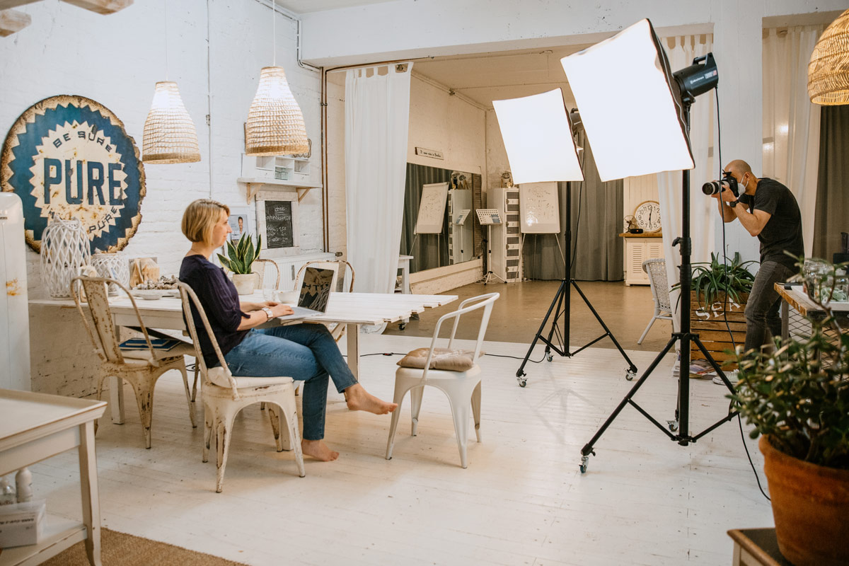 Business-Fotoshooting mit Angela Mueller